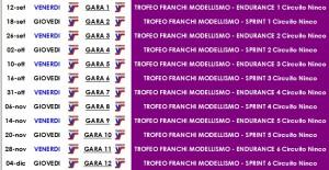 Calendario Trofeo Franchi 2014