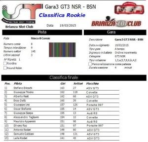 Gara3 GT3 NSR Rookie 15