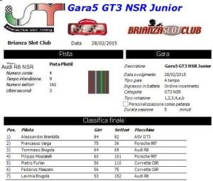 Gara5 GT3 NSR Junior 15