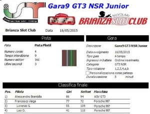 Gara9 GT3 NSR Junior 15