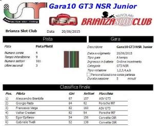 Gara10 GT3 NSR Junior 15