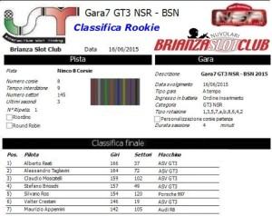 Gara7 GT3 NSR Rookie 15