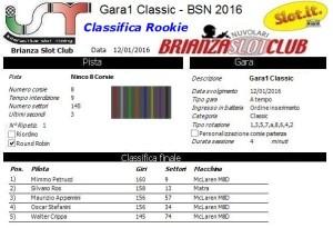 Gara1 Classic Rookie 16