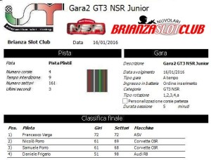 Gara2 GT3 NSR Junior 16