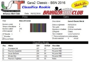 Gara2 Classic Rookie 16