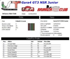 Gara4 GT3 NSR Junior 16