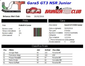 Gara5 GT3 NSR Junior 16
