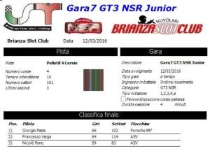 Gara7 GT3 NSR Junior 16