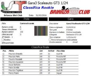 Gara3 scaleauto Rookie 16