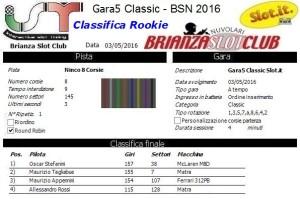 Gara5 Classic Rookie 16