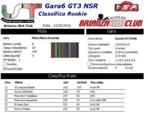 Gara6 GT3 NSR Rookie 16