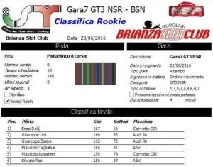 Gara7 GT3 NSR Rookie 16