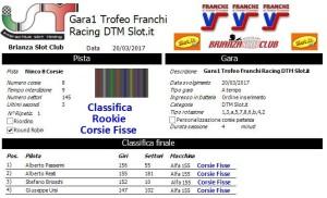 Gara1 Trofeo Franchi Racing DTM Corsie Fisse Rookie 17
