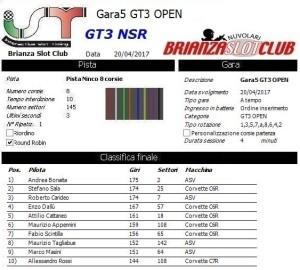 Gara5 GT3 OPEN NSR 17