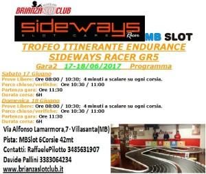 Programma Gara.2 Trofeo Itinerante Endurance GR5 Gara2 BSN- 2017