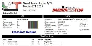 Gara3 Trofeo Estivo 1-24 Toyota GT1 Rookie 2017