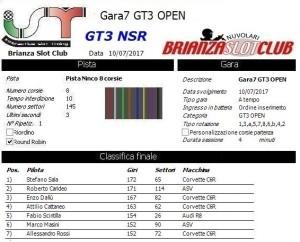 Gara7 GT3 OPEN NSR 17