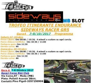 Programma Gara4 Trofeo Itinerante Endurance GR5 Gara4 Ascari Slot- 2017