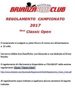 Regolamento New Classic Open1 2017.