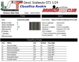 Gara1 Scaleauto GT3 Rookie 18