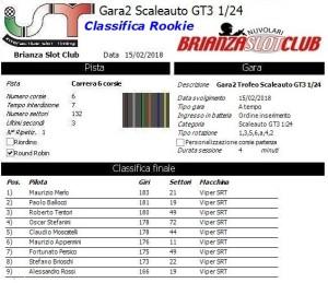 Gara2 Scaleauto Rookie 18