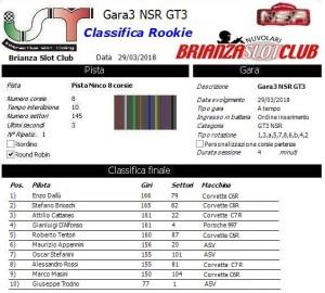 Gara3 GT3 NSR Rookie 18