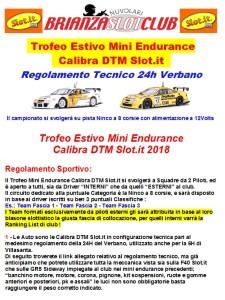 Regolamento Trofeo Estivo DTM Calibra 1.20188