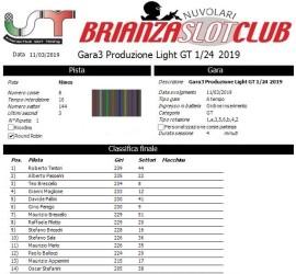 Gara3 Produzione GT Light 1-24 2019